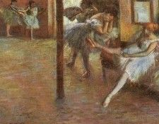 Degas Ballet Rehearsal, 1891, oil on canvas, Yale University. Дега, Эдгар-Жермен-Илер