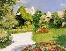 Caillebotte Gustave Farmers house in Trouville Sun. Кайботт, Гюстав