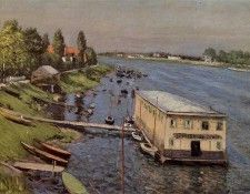 Caillebotte Gustave Boathouse in Argenteuil. Кайботт, Гюстав