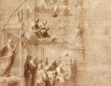 Raphael Study for the Disputa. Рафаэль