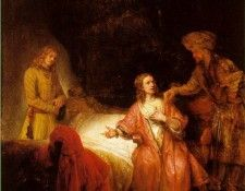 REMBRANDT JOSEPH ACCUSED BY POTIPHARS WIFE 1655 NG WASHINGT. Рембрандт Харменс ван Рейн