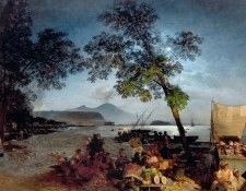 Summer Evening in the Bay of Naples. Achenbach, Освальд