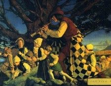 Mp 0003 The Pied Piper MaxfieldParrish sqs. Пэрриш, Maxfield