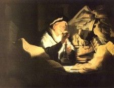 REMBRANDT The rich man from the parable 1626 Staatliche Muse. Рембрандт Харменс ван Рейн