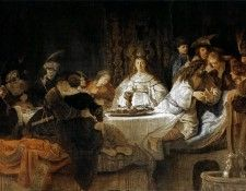 Rembrandt - Samson Putting Forth His Riddles at the Wedding Feast. Рембрандт Харменс ван Рейн