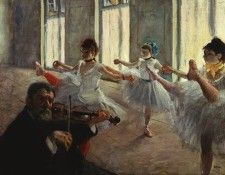 Degas The Rehearsal, probably 1878 or early 1879, 47.6x60.9 . Дега, Эдгар-Жермен-Илер