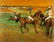 Degas Race horses, 1885-88, Pastel on panel, Philadelphia Mu. Дега, Эдгар-Жермен-Илер