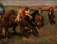 Degas Before the Race, 1882 c.. Дега, Эдгар-Жермен-Илер