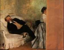 Degas Mr and Mrs Manet ca 1868, Municipal Museum of Art, Kit. Дега, Эдгар-Жермен-Илер