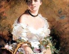 Lady with Flowers 1870. Boldini, Джованни