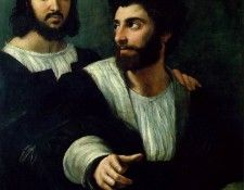 Raffaello Portrait of the Artist with a Friend, traditionall. Рафаэль