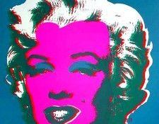 Warhol - Marilyn Blue. Уорхол, Энди