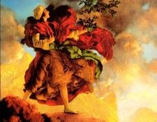 Maxfield Parrish Princess Parizade Bringing Home the Singing Tree, 1906 sqs. Пэрриш, Maxfield