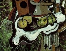 Braque Fruit on a Tablecloth with a Fruitdish, 1925, Paris P. Брак, Жорж