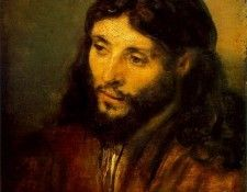 REMBRANDT YOUNG JEW AS CHRIST CA 1656 STAATLICHE MUSEEN BERL. Рембрандт Харменс ван Рейн