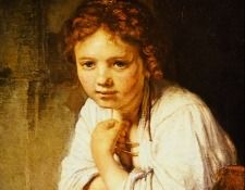 Rembrandt - A Young Girl Leaning on a Window-Sill. Рембрандт Харменс ван Рейн