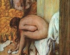 Degas After the Bath- Woman Drying her feet, 1886.. Дега, Эдгар-Жермен-Илер