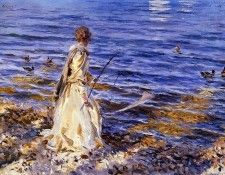 Sargent John Singer Girl Fishing. Сарджент, Джон Сингер