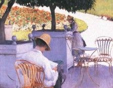 Caillebotte Gustave The Orange Trees. Кайботт, Гюстав