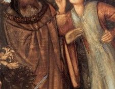 Burne Jones King Mark and La Belle Iseult detail. Берн-Джонса сэра Эдварда Коли