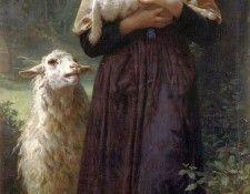 The Shepherdess 1873. Бугро, Адольф Вильям