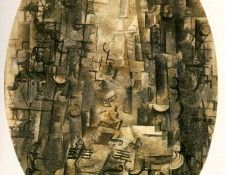 Braque Man with a violin, 1912, Foundation E.G. Buhrie Colle. Брак, Жорж
