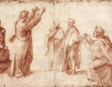 Raphael Study for St Paul Preaching in Athens. Рафаэль