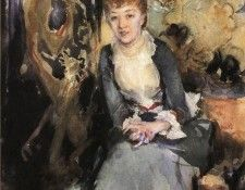 Sargent John Singer Miss Reubell Seated in Front of a Screen. Сарджент, Джон Сингер