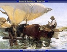 PO Vp S2 39 Bastida-Boat returning from a fishing trip. Bastida, Хоакин Sorolla Y