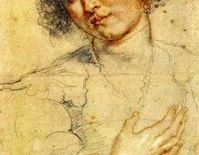 Rubens Peter Paul Head and right hand of a woman. Рубенс, Питер Пауль
