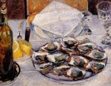 Caillebotte Gustave Still Life Oysters. Кайботт, Гюстав