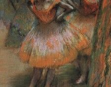 Degas Two Dancers, 1890, pastel on paper, The Art Institute . Дега, Эдгар-Жермен-Илер