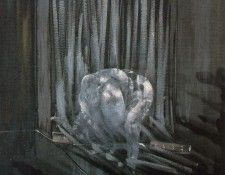 Bacon Study for a nude, 1951, 198 x 137 cm, Private. Бэкон, Фрэнсис