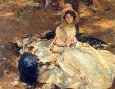 Sargent John Singer The Pink Dress. Сарджент, Джон Сингер