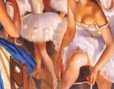 serebryakova ballet dressing room snowflakes the nutcracker 1923. Серебрякова Зинаида Евгеньевна (1884-1967)