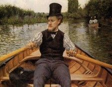 Caillebotte Gustave Boating Party. Кайботт, Гюстав