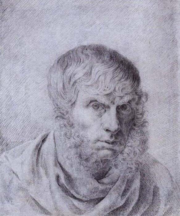 FRIEDRICH Caspar David Self Portrait 1810. Фридрих, Каспар Давид