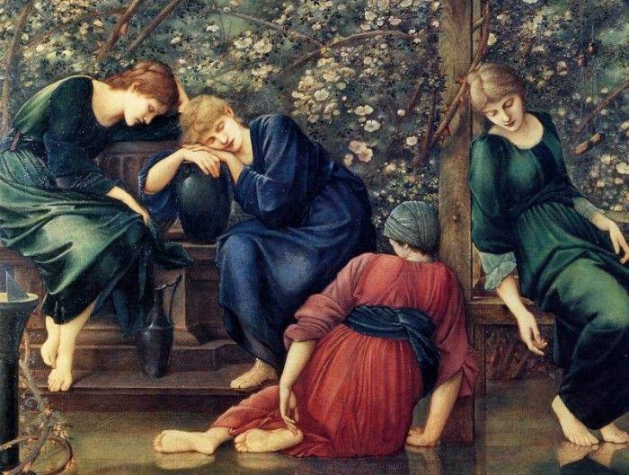 Edward Burne-Jones - Briar Rose, Garden Court (detail), De. ����-������ ���� ������� ����