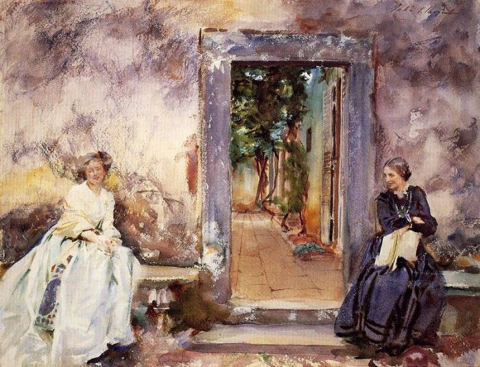 Sargent John Singer The Garden Wall. Сарджент, Джон Сингер