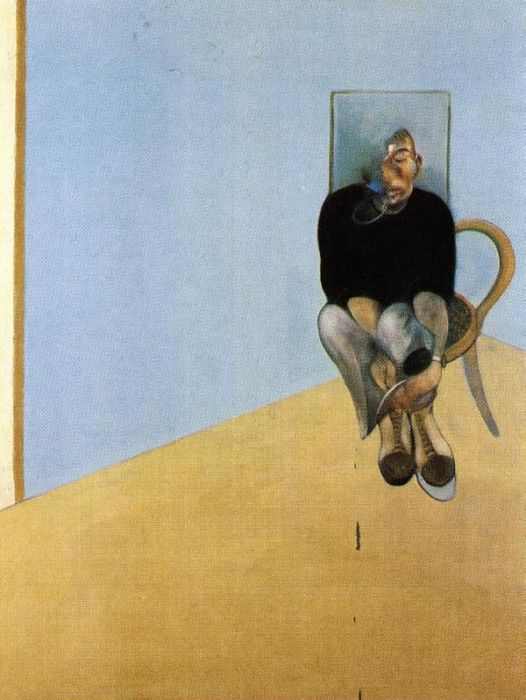 Bacon Study for Self-Portrait, 1982. Бэкон, Фрэнсис
