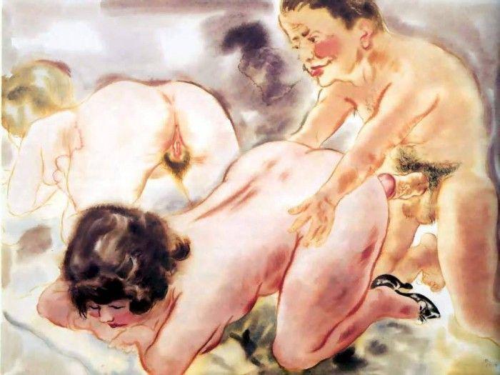 Сексуальные произведения художников порно