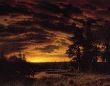 Bierstadt Albert Evening on the Prarie. Бирштадт, Альберт