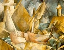 Braque Harbor in Normandy, 1909, Art inst. of Chicago. Брак, Жорж