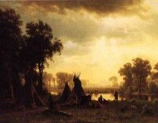 Bierstadt Albert An Indian Encampment. Бирштадт, Альберт