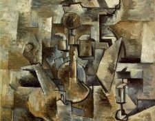 Braque Violin and candlestick, 1910, San Francisco Museum of. Брак, Жорж