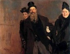 John Lewis Brown with Wife and Daughter 1890. Boldini, Джованни