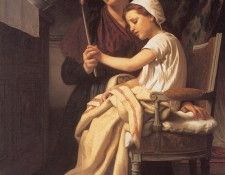Bouguereau The Thank Offering. Бугро, Адольф Вильям