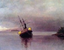 Wreck of the Ancon in Loring Bay. Бирштадт, Альберт