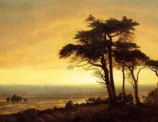 Bierstadt Albert California Coast. Бирштадт, Альберт