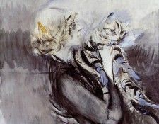 A Lady with a Cat. Boldini, Джованни